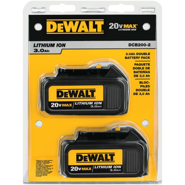 20V MAX* Lithium Ion Battery Two Pack (3.0 Ah)