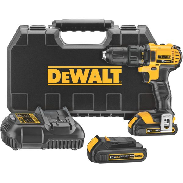DeWalt 20V MAX* Lithium Ion Compact Drill/Driver Kit (1.5 Ah)
