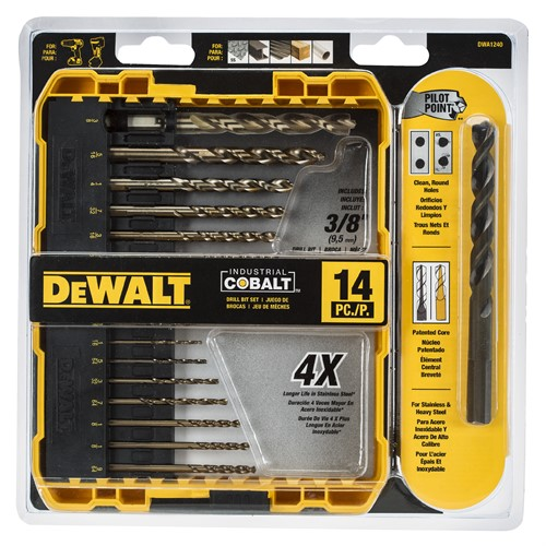 DeWalt 14PC Colbalt Drill Bit Set